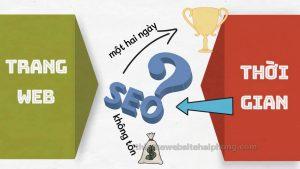 seo website trong bao lâu