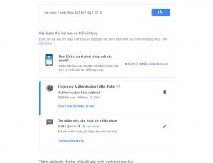 bảo mật kênh youtube bằng số điện thoại và Google Authenticator