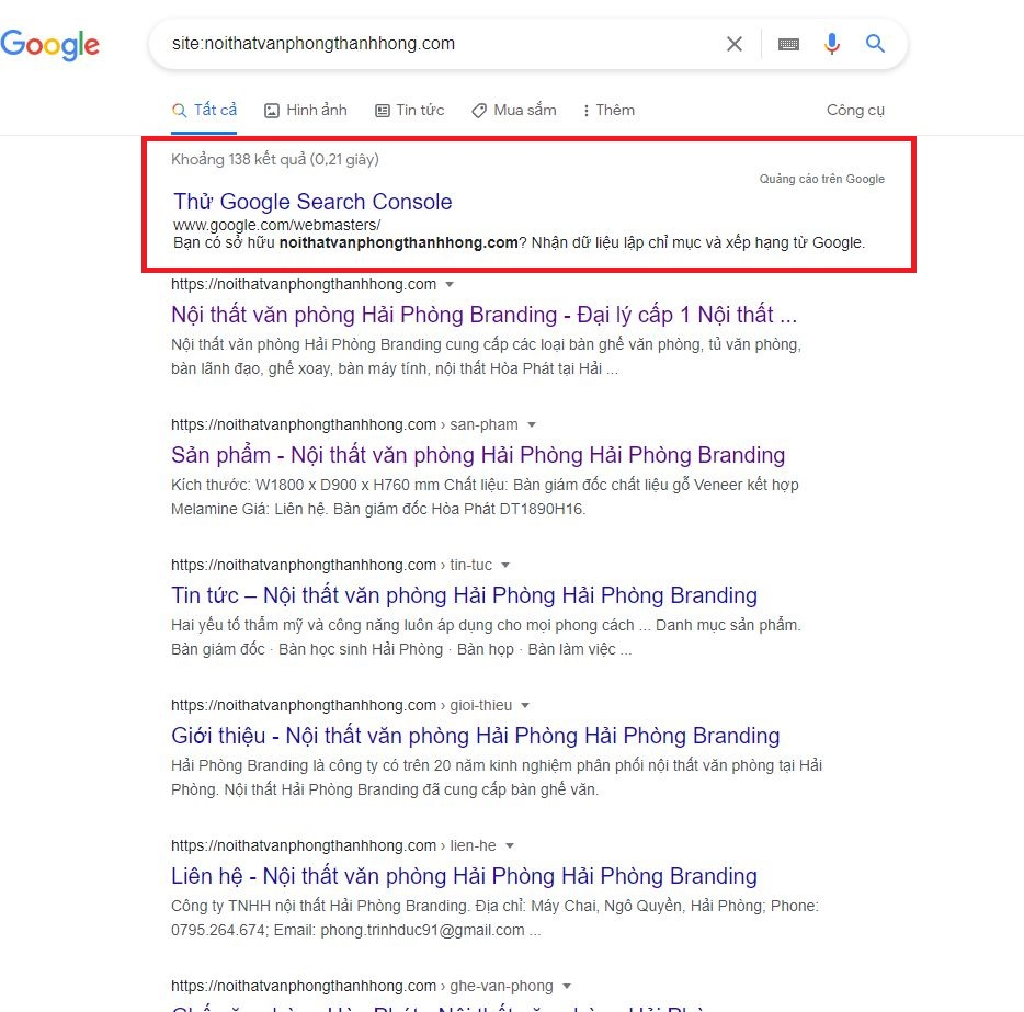 dịch vụ index link bài viết sản phẩm của website lên google