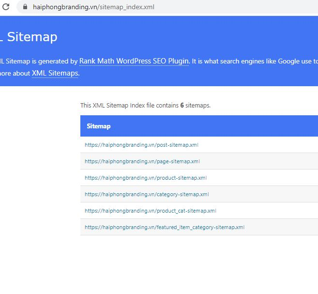 tạo sitemap để seo website