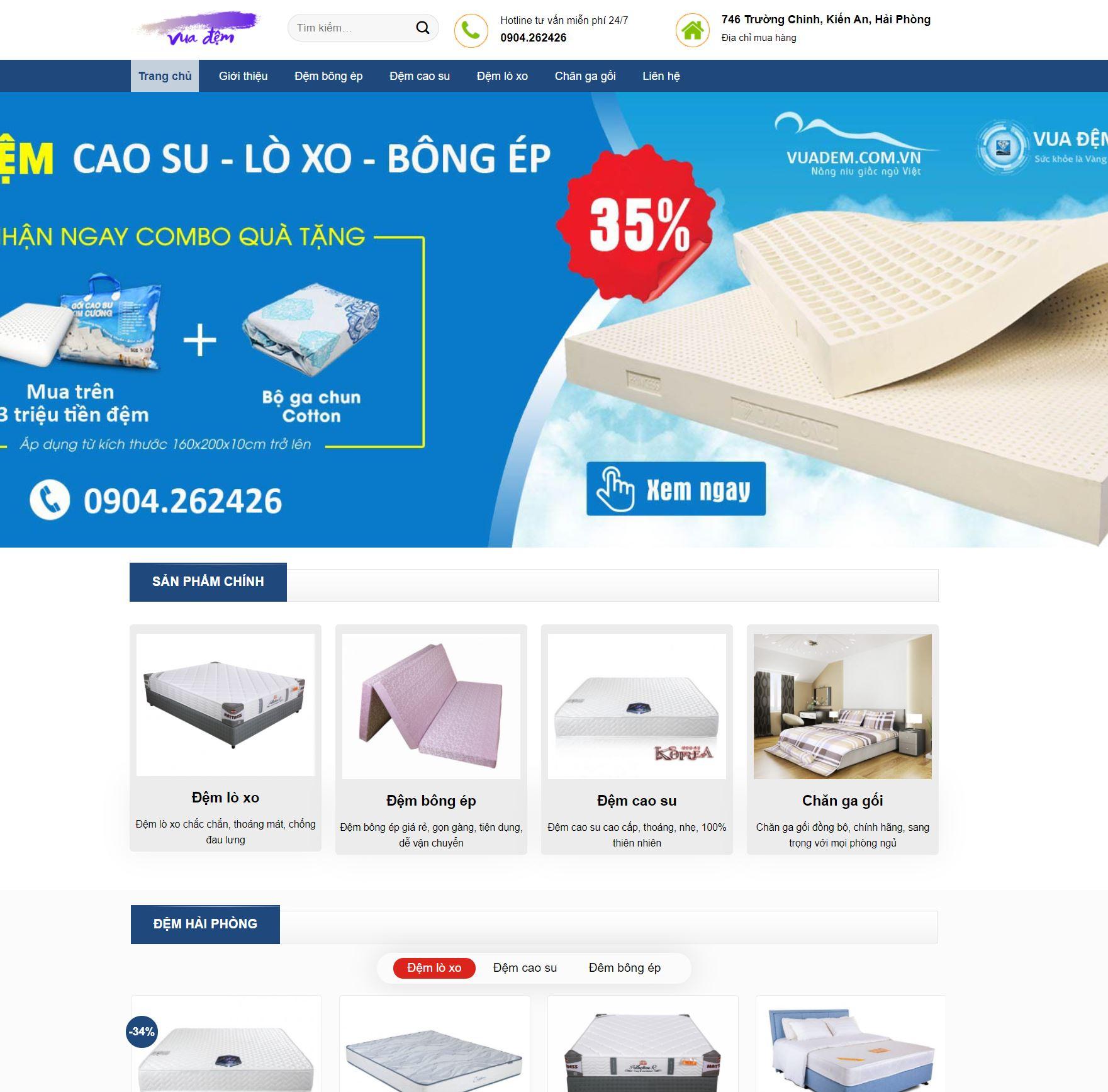 thiết kế website vua đệm hải phòng