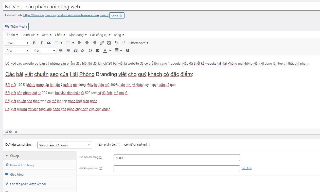dịch vụ viết nội dung cho website